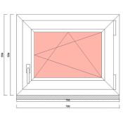 маленькое вытянутое окно в баню 700 на 550 мм