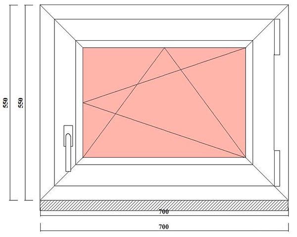 маленькое окно в хозблок, баню, на дачу