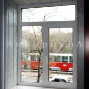 Т-образное двустворчатое окно 1770 на 1310 мм в спб