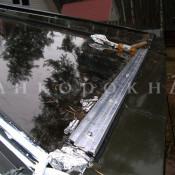 зимний сад - швы и рамы между стеклами - фото