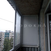 установка алюминиевых окон на балконе в спб - фото