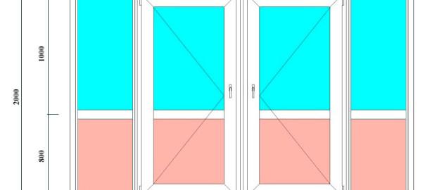 пластиковая входная дверь 2000х3200 мм