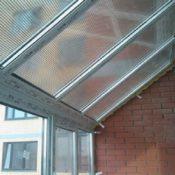 прозрачная поликарбонат крыша на балкон фото