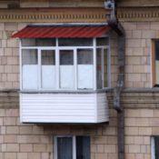 крыша из ондулина фото балкона