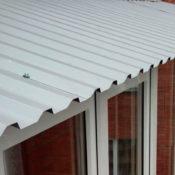 крыша на балкон профлист фото Ленобласть