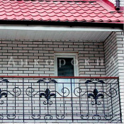 балконный козырек из металлочерепицы фото