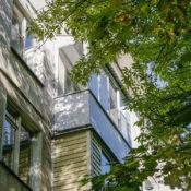 крыша на балкон из металлочерепицы фото в СПб