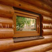 пвх и деревянные окна 55 на 70 см в срубы, бани
