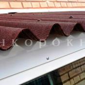 Крыша-козырек фото