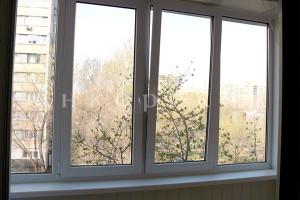 четырехстворчатые окна на балкон 1600 на 2400 мм фото