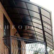 установка крыши из поликарбоната на балкон в спб