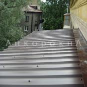 крыша на балкон из профнастила фото