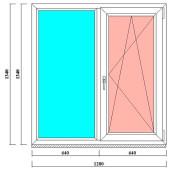 пвх окна 1340 на 1280 мм в спб