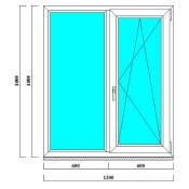 пластиковые окна 1400 на 1200 мм в СПб