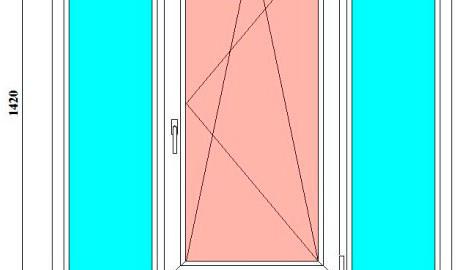 пластиковое окно 1420 на 1700 мм в спб