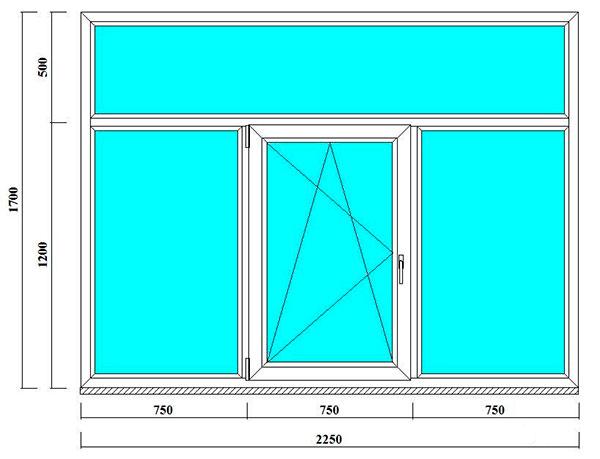 пвх окно с фрамугой в кирпичный дом 1700 на 2250 мм в Питере