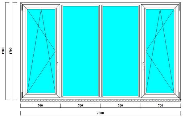 пластиковое окно в дом серии п 46 в спб