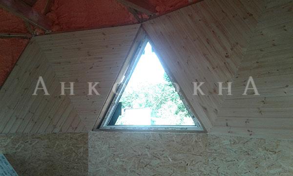 треугольные, нестандартные окна от завода - фото