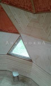 треугольное пластиковое пвх окно на заказ в спб