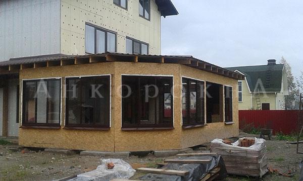 алюминиевые окна с коричневым профилем