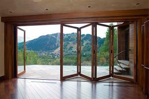 окна-двери Патио гармошкой фото