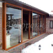 система раздвижных окон и дверей для загороднего дома фото