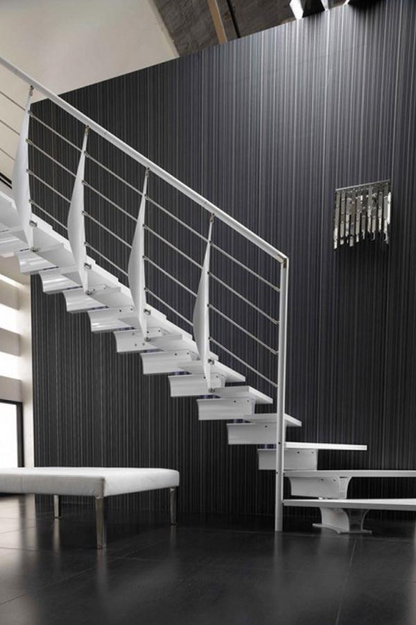лестница маршевая скругленная