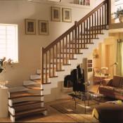 лестницы поворотные маршевые элитные на заказ спб