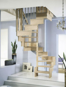 лестницы поворотные модульные купить на заказ в спб
