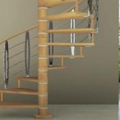 лестницы поворотные винтовые купить на заказ в спб