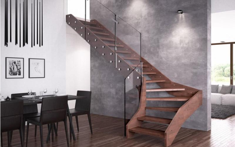 нестандартные деревянные лестницы производства италия