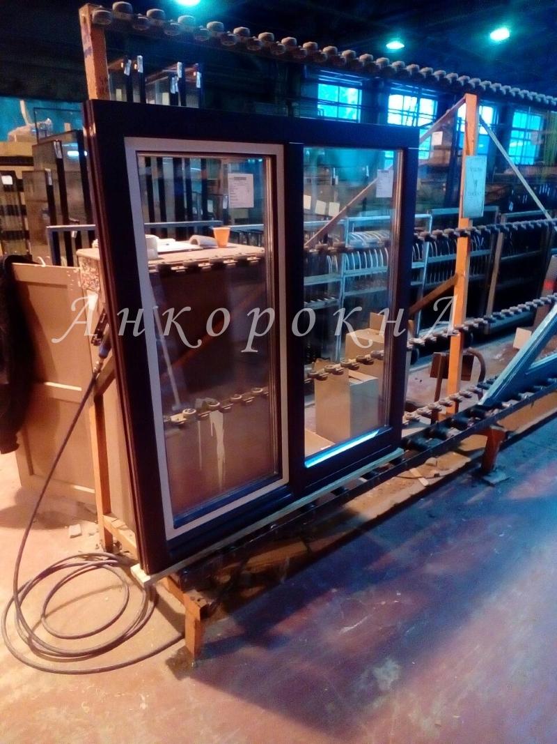 деревянное окно на заказ
