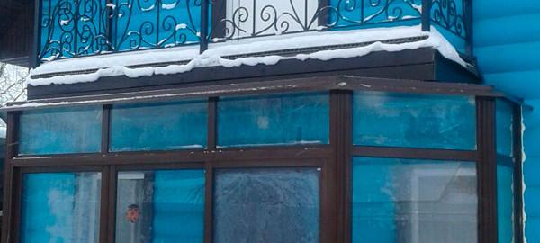 остекление веранды зимой