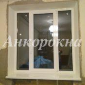 Алюминиевые окна, каменные подоконники фото