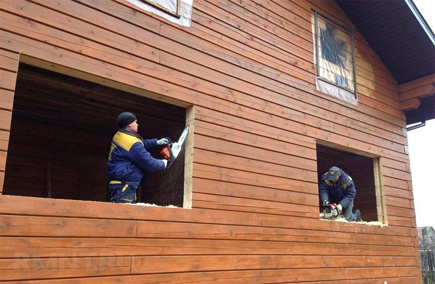 Установка пластиковых окон пвх в деревянном доме