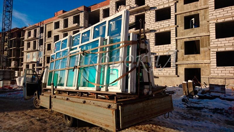Окна для ЖК Дом с фонтаном фото