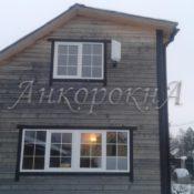 Остекление деревянного дома Вартемяги