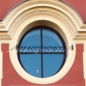 окна стеклопакеты круглые с импостами