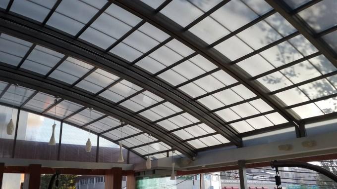 Фото раздвижной стеклянной крыши