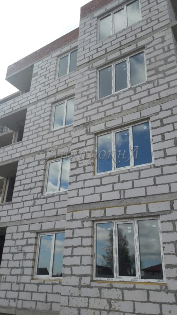 Остекление строящегося объекта в Щеглово