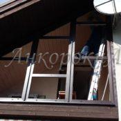установка треугольного окна на крыше фото