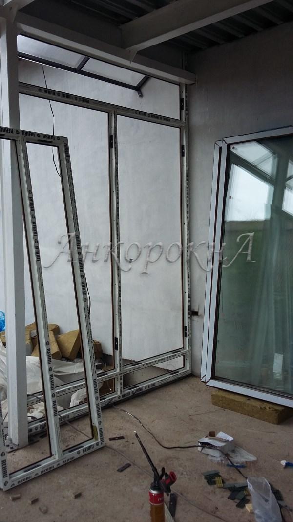 Фото работ стеклянной террасы