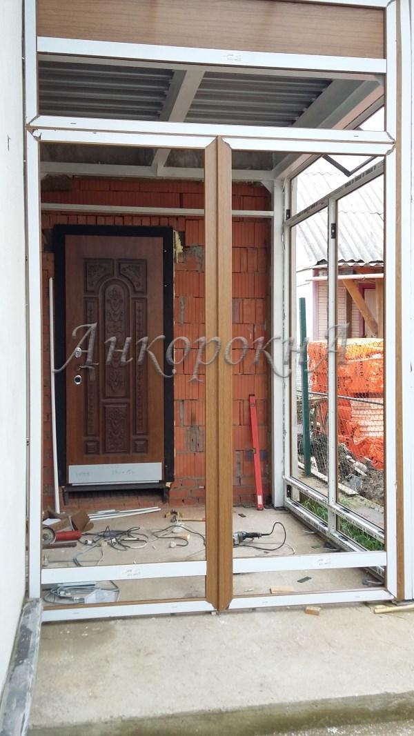 терраса стеклянная в поселке лисий нос фото