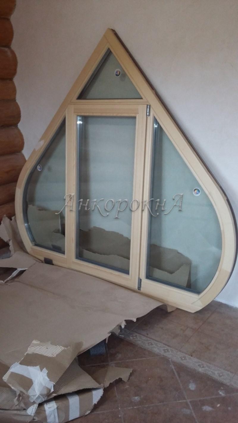 изготовление деревянного окна луковидной формы