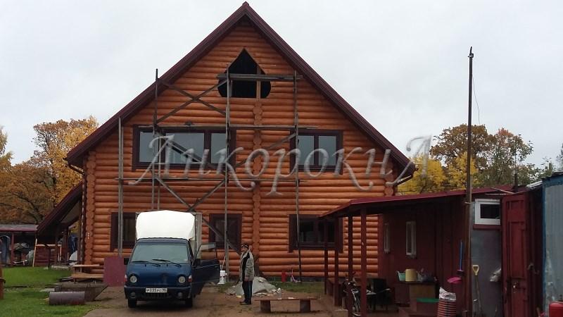 остеклить дом деревянными окнами в Мартышкино
