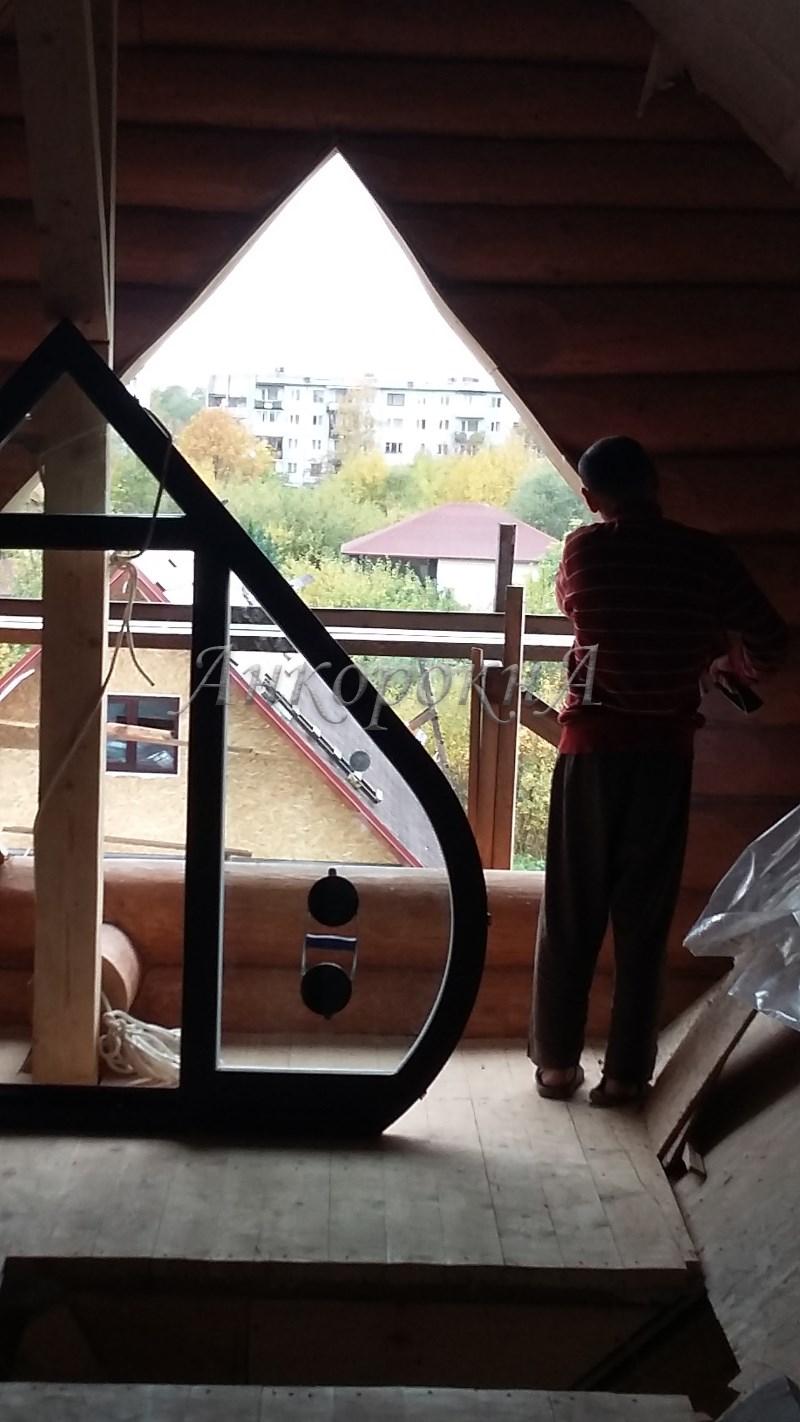 изготовить деревянное окно нестандартной формы Мартышкино