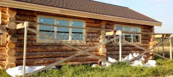 Мельница Германа Стерлигова с окнами из сосны от компании Анкорокна