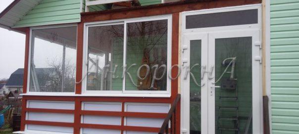Остекленная терраса в деревне Куйвози фото