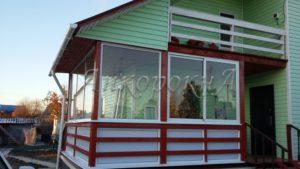 заказать остекление веранды дома в деревне Куйвози фото