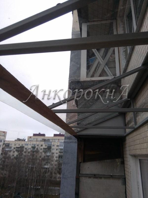 крыша на балкон поликарбонат